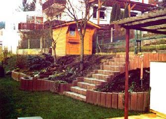 lamboy garten und landschaftsbau palisaden palisadenbau. Black Bedroom Furniture Sets. Home Design Ideas